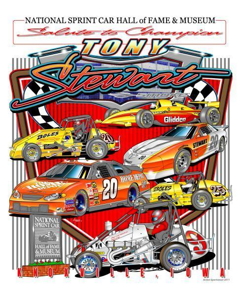 Salute to Champion Tony Stewart Poster