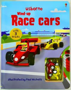 Wind-Up Race Cars Book/Toy