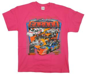 Jeff Gordon Salute to Champions Tee - Ladies Bright Pink