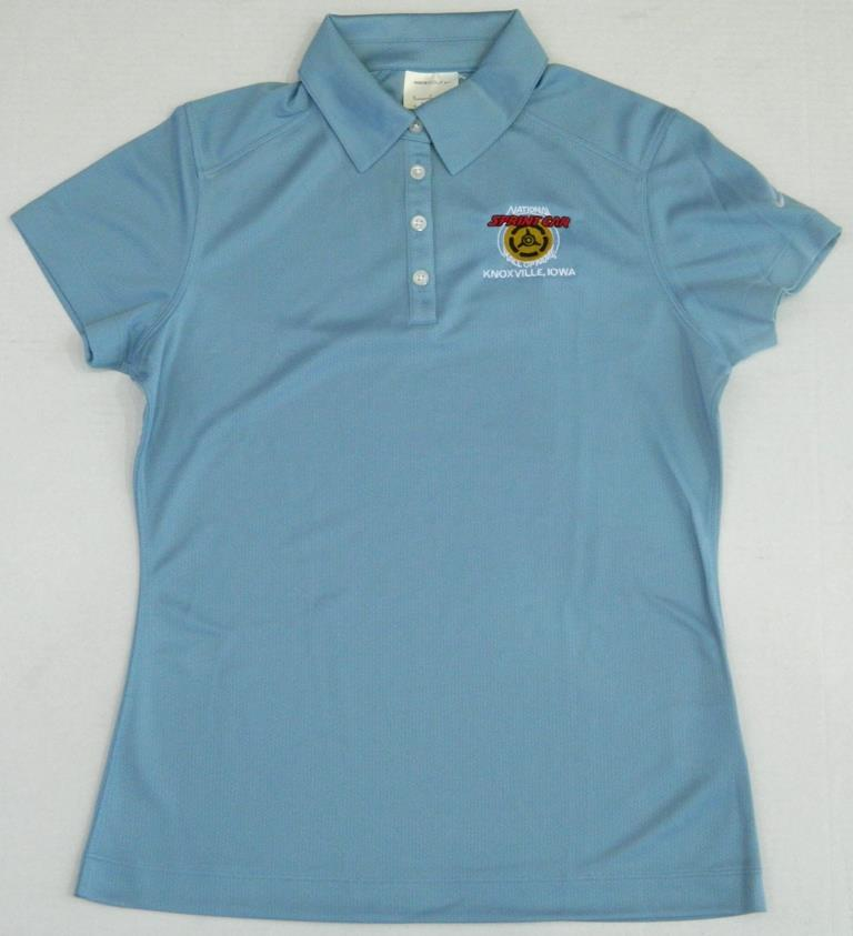 *SALE*  Ladies Nike Golf Polo - Powder Blue NSCHoF