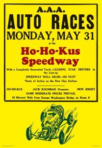 Vintage Reproduction Ho-Ho-Kus Speedway Poster