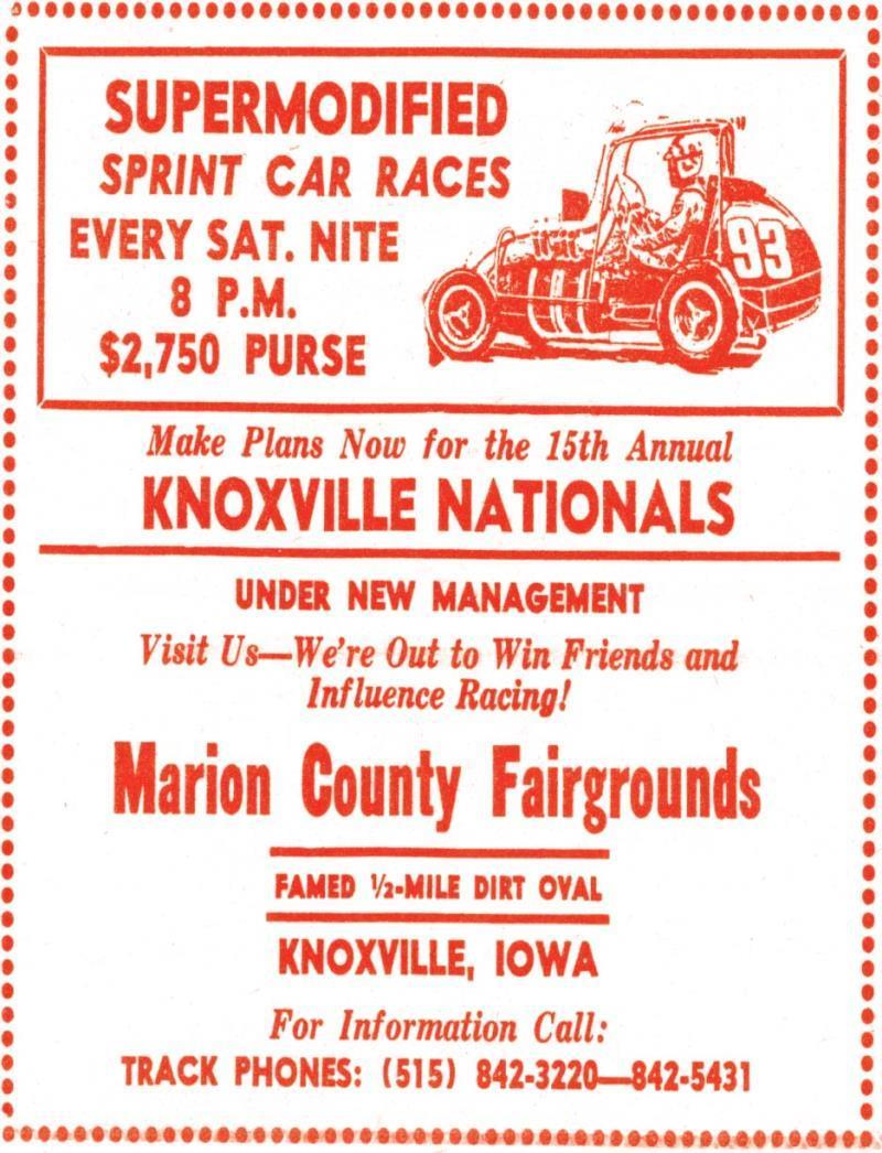 Vintage Reproduction 15th Annual Knoxville Nationals Poster