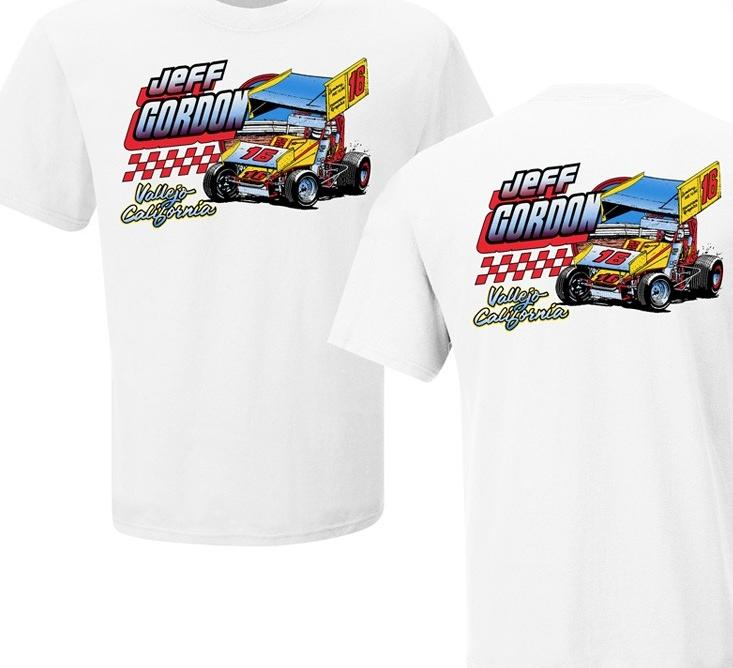 Jeff Gordon Retro 1985 #16 Sprint Car Tshirt