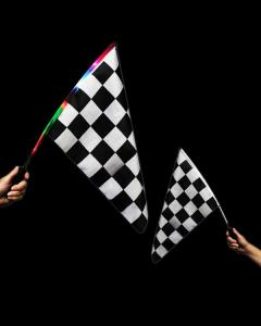 Multi-colored LED Checkered Flag