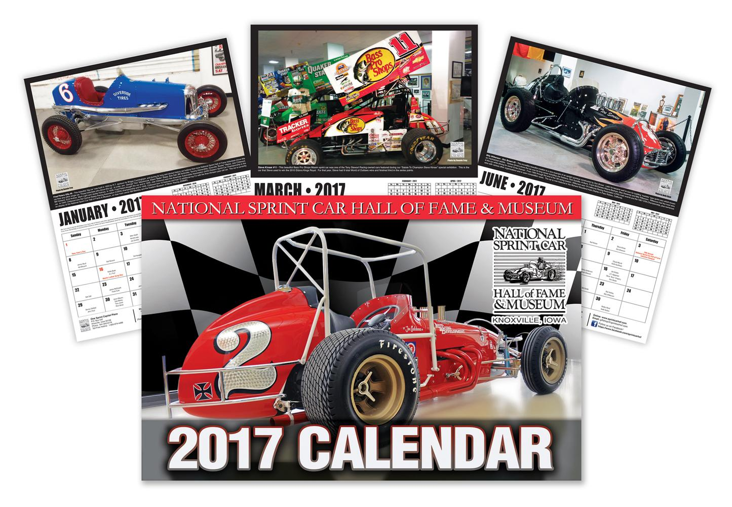 2017 National Sprint Car Hall of Fame & Museum Calendar