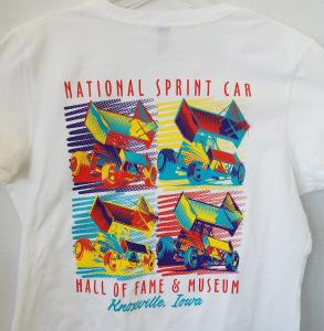 Warhol Inspired Sprint Car T-Shirt  - Women's White