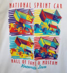 Warhol Inspired Sprint Car T-Shirt - White