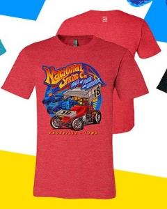 Retro Style NSCHoF T-Shirt - Heather Red