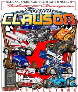 Salute To Champion Bryan Clauson T-Shirt - Black