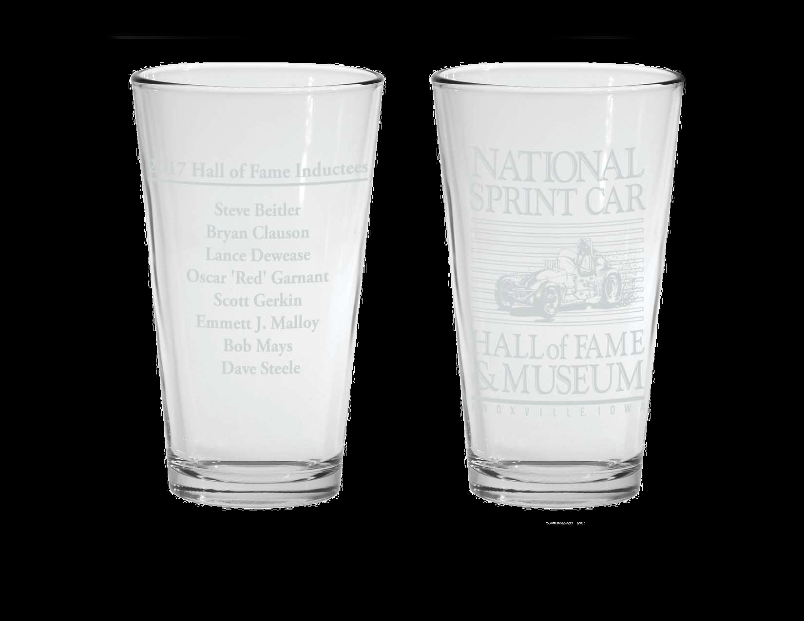 2018 National Sprint Car Hall of Fame  Induction Glasses