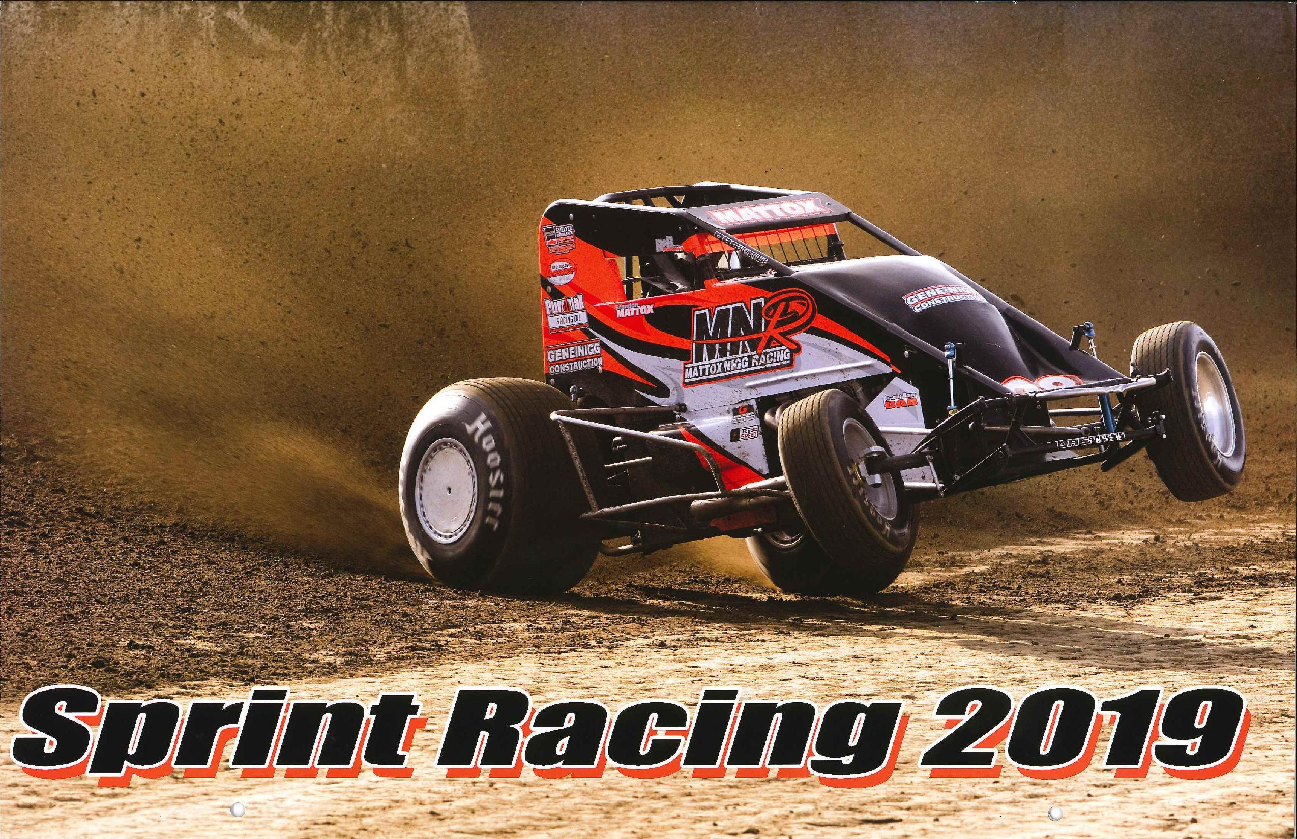2019 Paul Oxman Sprint Racing Calendar