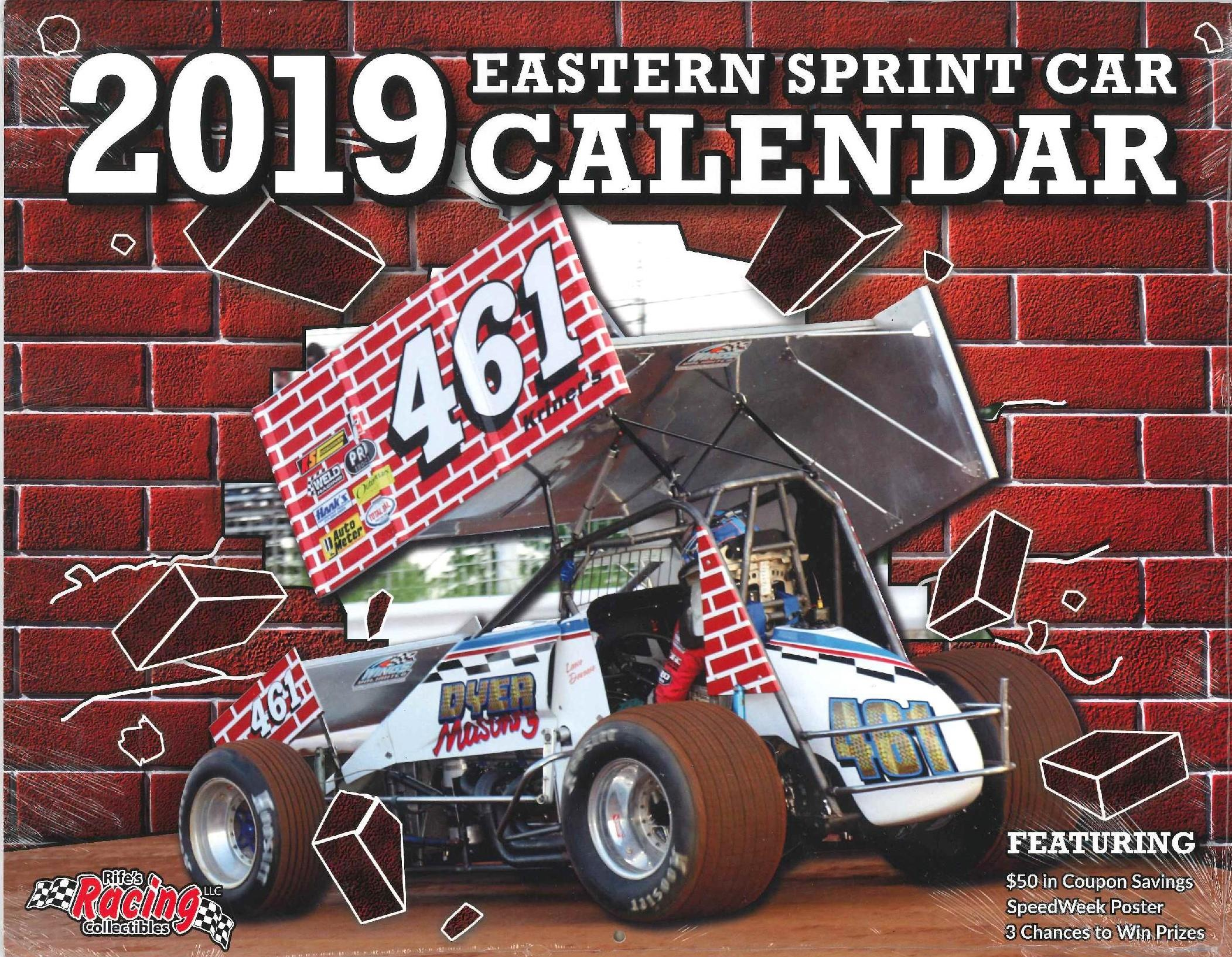 2019 Eastern Sprint Car Calendar