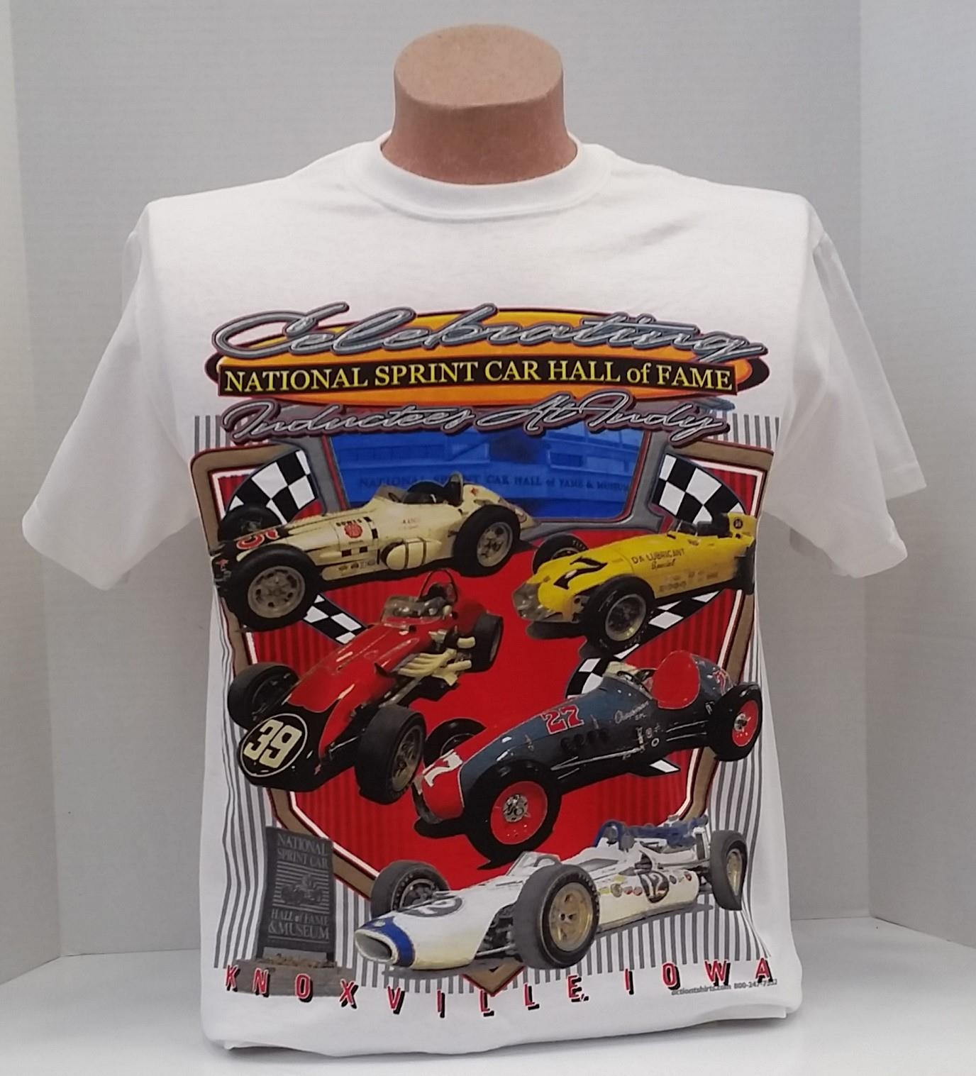 Celebrating National Sprint Car Hall of Fame Inductees at Indy T-SHIRT - White