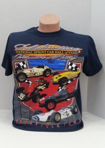 Celebrating National Sprint Car Hall of Fame Inductees at Indy T-SHIRT - NAVY