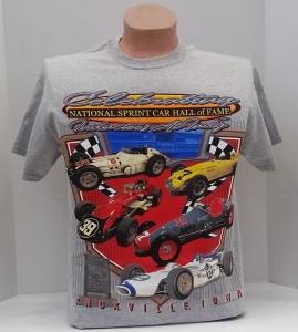 Celebrating National Sprint Car Hall of Fame Inductees at Indy T-SHIRT - Heather Gray