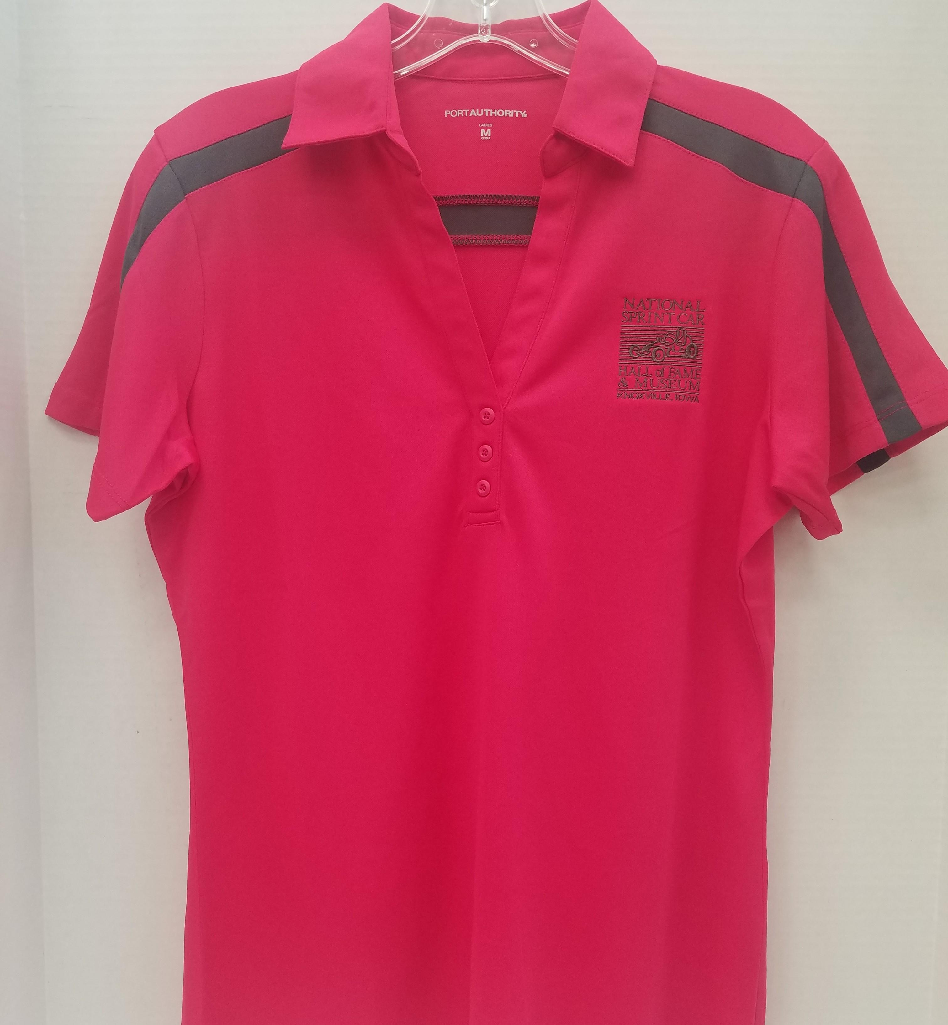 *SALE*   Ladies Fit Raspberry/steel grey Polo