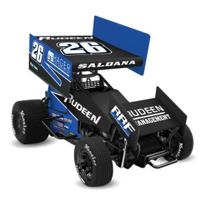 2018 Joey Saldana 1/18th Sprint Car Rudeen Racing Die Cast