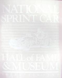 National Sprint Car Hall of Fame Decal - White