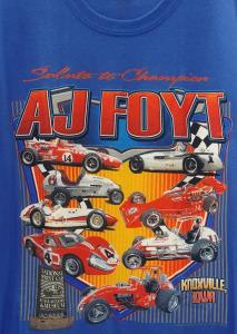 Salute to Champion AJ Foyt T-Shirt - Blue