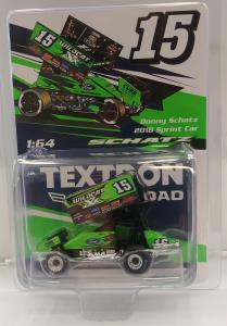 Donny Schatz 2018 Wildcat 1/64th Die Cast Sprint Car