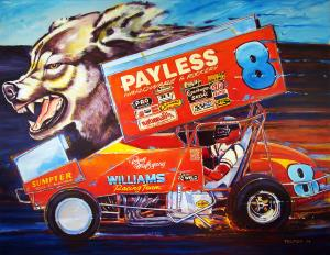 'Doug Wolfgang - Sprint Car Champion' Print