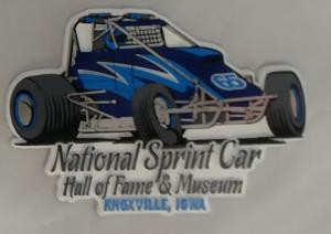 Blue Non Winged Sprint Car Magnet