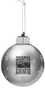 Silver Glass Light Up Ornament