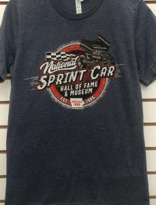 Wing Sprint Car T-shirt - Heather Navy