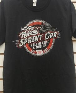 Non-Wing Sprint Car T-shirt - Heather Black