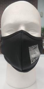 Black 3-Ply Face Mask with Logo