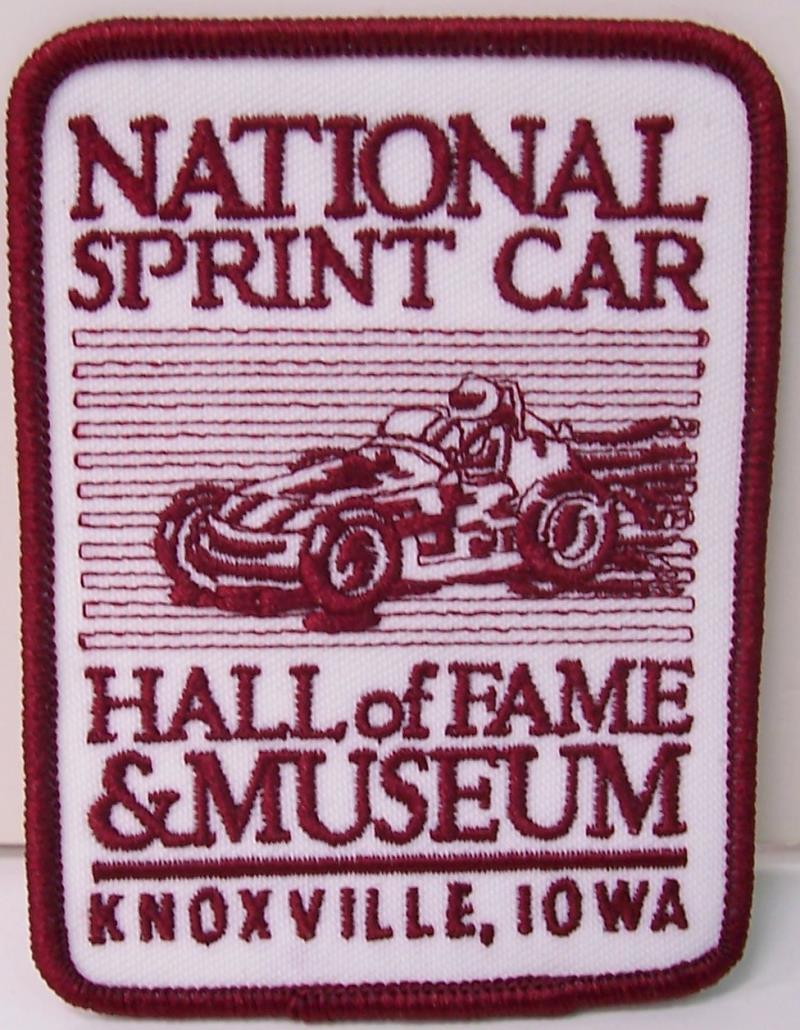 Red and White NSCHOF Patch