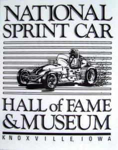 National Sprint Car Hall of Fame Decal - Black