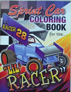 Sprint Car Coloring Book For The Lil Racer