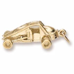 Gold Plated Non-Winged sprint car charm
