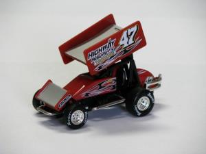 Ken Satori #47 1/64 Scale Die Cast Sprint Car